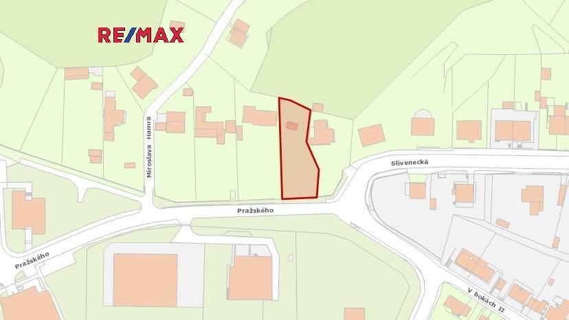 Prodej stavebního pozemku 1 025 m2 v Praze 5 Hlubočepy